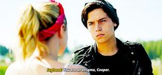 Mercy, I melted when he said that to her ugh Bughead Riverdale, Riverdale Memes, Riverdale Betty And Jughead, Lilli Reinhart, Lili Reinhart And Cole Sprouse, Stranger Things, Rachel Berry, Betty Cooper, Oh My Love