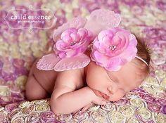 Pink newborn butterfly wings photo prop with por cutiepiegoodies, $24.00