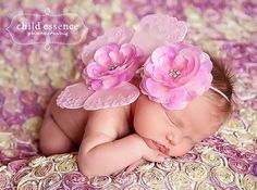Pink newborn butterfly wings photo prop with por cutiepiegoodies, $24.00