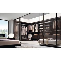 modern walk-in wardrobes design missura emme ❤ liked on Polyvore featuring home, house, rooms and places