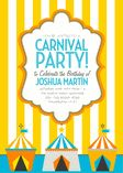 Carnival Stripes - Yellow Invitations