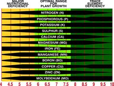 SOIL PH CHART - How your soil's PH affect your plants.