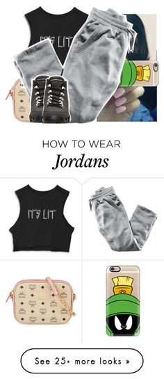 """""""this okay """" by lowkeytayy on Polyvore featuring MCM, Casetify, H&M and Retrò"""