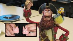 "Aardman Animation used printing in their latest feature length film ""The Pirates! Band of Misfits"" ""We Clay Animation, Animation Stop Motion, Stop Motion Movies, Pirate Movies, Sculpting Tutorials, Pirate Life, Misfits, New Movies, Puppets"