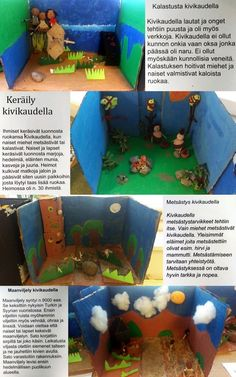 Diodraama kivikaudesta / Hakalan koulu 5. lk (2015-2016). School Projects, School Ideas, Stone Age, World History, Ancient History, Finland, Art Lessons, Literacy, Teaching