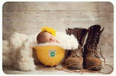 If I ever have another baby I'll do this with Brents lineman hard hat.