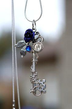 Purple Winter Rose Key by *KeypersCove on deviantART