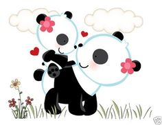 Panda Bear LOVE Wall Art Mural Decal for baby girl nursery or kids room decor. This adorable mural of a loving mother bear with her baby in the spring meadow. This unique, one of a kind wall mural is high quality with bright vivid colors. Easy to install #decampstudios