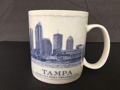 Starbucks Mug 2007 Architecture Series Tampa FL 18 oz Coffee Tea Cup  #Starbucks
