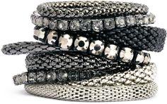 H&M 9-pack Bracelets - Dark gray