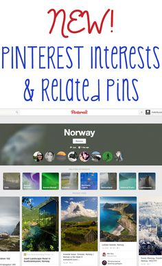 NEW! Pinterest Interests & Related Pins