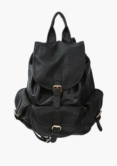 Black Back Pack with Multiple Pockets.