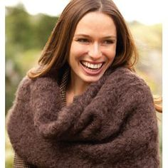 Easy Fluffy Mohair Cowl FREE Pattern