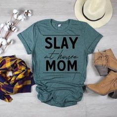Excited to share this item from my shop: Slay at Home Mom / Mom Slay Shirt / Stay At Homr Mom / Mom Boss / Mommin' All Day Everyday / Boss Mama / Cute Shirt Designs, Mama Shirt, Wife Mom Boss Shirt, Vinyl Shirts, Canvas Shirts, Diy Shirt, Diy Tank, Cute Shirts, Mom T Shirts
