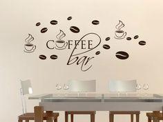 #Wandtattoo #Küche #Set #Coffee Bar #Kaffeebohnen Tassen