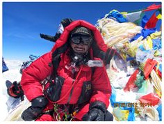 on the Summit of Mt. Everest
