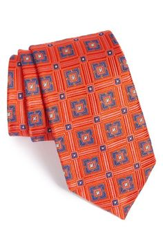 Nordstrom 'Box Car Squares' Geometric Silk Tie (X-Long) available at #Nordstrom