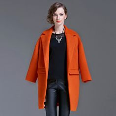 Find More Wool & Blends Information about Laluna New 2015 Autumn Winter Coat  Solid Loose Women Wool Coat Thick Warm Outwear With Pockets Casaco Feminino Free Shipping,High Quality coat mens,China coat organizer Suppliers, Cheap coat picture from LALUNA on Aliexpress.com