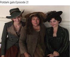 Eleanor Tomlinson as Demelza, Beatie Edney as Purdie and Ruby Bentall as Verity in Poldark Poldark Series 2, Bbc Poldark, Poldark 2015, Demelza Poldark, Ross Poldark, Poldark Season 3, Ross And Demelza, The Other Boleyn Girl, The White Princess