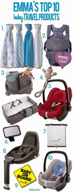 Top Baby Travel Products - Emma's Blog #Blog #Mum #Baby #Travel #Pregnancy #Parenting