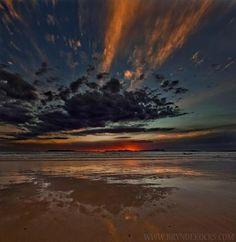 Strand Beach, Cape Town, April sunset