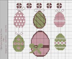 Œuf de Pâques - Easter eggs - Pasqua - Frohe Ostern (grille gratuite)