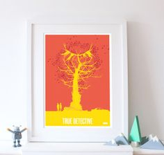 True Detective A3 Retro Style Print by thedesignersnursery on Etsy, $30.00 #truedetective, #retroposters, #thedesignersnursery