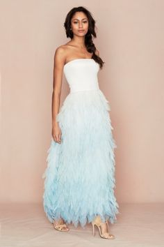 Janli Strapless Petal Dress