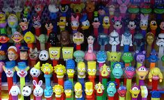 pez many people have large collections of the dispensers