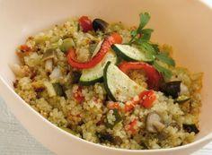 Falso risotto de quinoa con setas y verduras Lekue