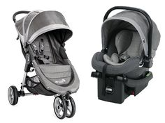 Baby Jogger 2017 City Mini Travel System, Steel Gray
