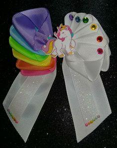 Birthday Felt Bows For Girls. Big Felt Bow With Flowers. Diy Bow, Diy Ribbon, Ribbon Crafts, Ribbon Bows, Felt Bows, Diy Crafts, Girl Hair Bows, Girls Bows, Disney Hair Bows