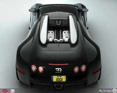 Bugatti Veyron Back - revisit by AfroAfroguy on deviantART