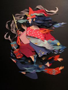 Paper art by Morgana Wallace on Tumblr |