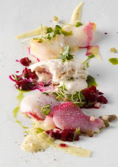 Beet and Scallop dish (2008 version): Chef Charlie Trotter of Charlie Trotter's - Chicago, IL