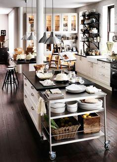 white + black kitchen