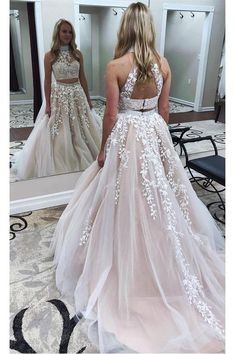 6d4157e3ae Sexy Deep V-neck Sleeveless Court Train Prom Dress Backless with Sequins  prom