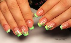 Nail Tip Designs, French Nail Designs, Creative Nail Designs, Fancy Nails, Bling Nails, Trendy Nails, Uñas One Stroke, Baby Pink Nails, Super Cute Nails
