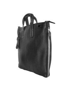low priced 00c7e eb345 Men s Modus - Expandable Black Calfskin Slim Briefcase. Lyst