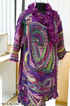Crochet Saco, Crochet Coat, Freeform Crochet, Tapestry Crochet, Crochet Cardigan, Cute Crochet, Irish Crochet, Beautiful Crochet, Crochet Jacket