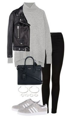 """""""Untitled #4880"""" by theeuropeancloset on Polyvore featuring Topshop, Diane Von Furstenberg, adidas Originals, Yves Saint Laurent, Acne Studios and Forever 21"""