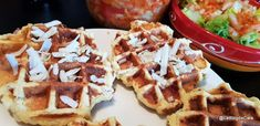 Lchf, Keto, Sans Gluten, Waffles, Low Carb, Breakfast, Food, Coleslaw, Grated Cheese
