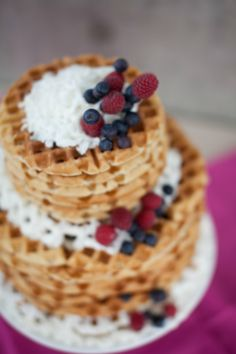 17 Wild Waffle Wedding Cakes That Make Us Want Waffle Cakes for *Every Occasion* via Brit + Co