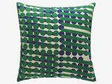 SANCHO 45 x 45cm blue/green patterned cushion
