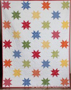 A Bright Corner blog Stars Abound 2 quilt