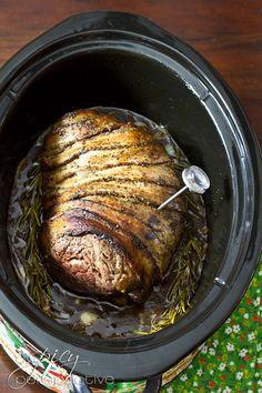 Crockpot Beef Tenderloin  | ASpicyPerspective.com #holidays #crockpot #slowcooker #recipes