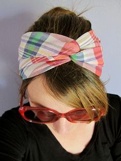 Twisted Turban Head Scarf with tutorial
