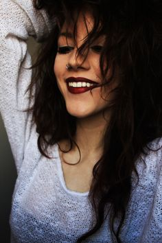 hair, lipstick and most of all smile.