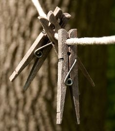 weathered clothes pins
