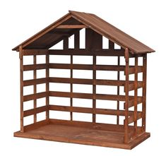 Large Scale Wood Stable, 72 inch tall Nativity Stable, Nativity Sets, Stables, Wood, Zip Code, Weather Conditions, St Louis, Pine, Cart